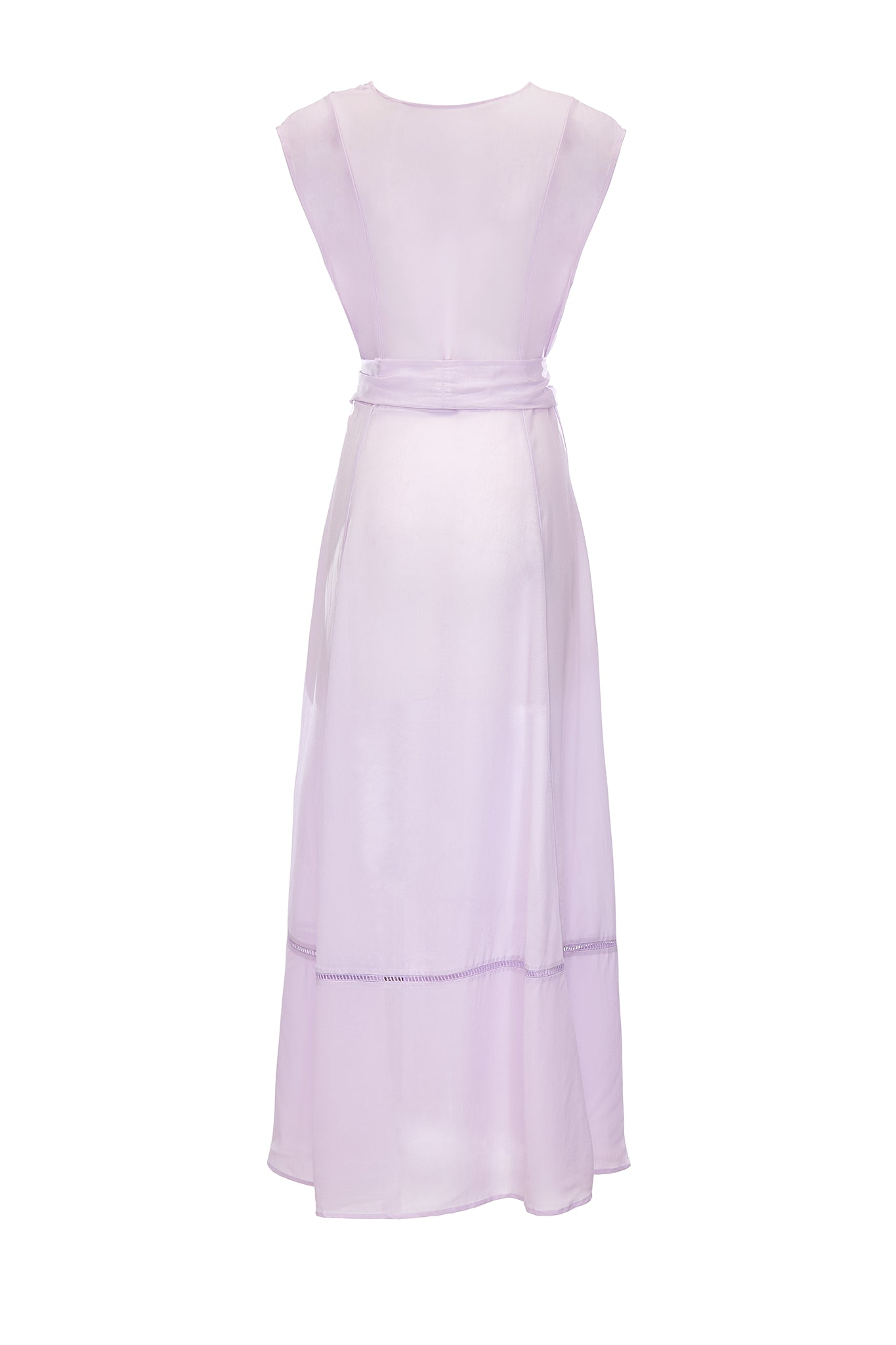 Audrey sleeveless maxi cover-up in lavender - product shot back