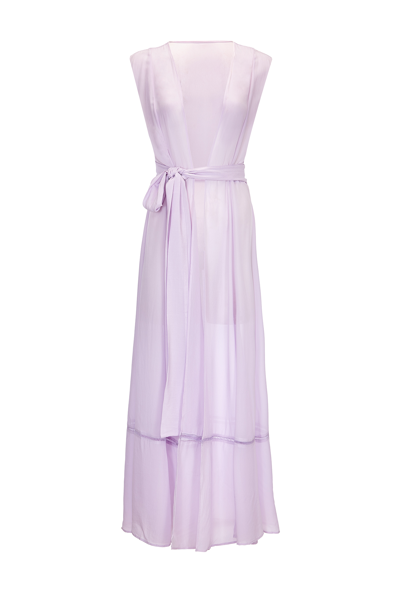 Audrey sleeveless maxi cover-up in lavender - product shot front