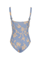 Hunter One Piece in Blue Botanical Print
