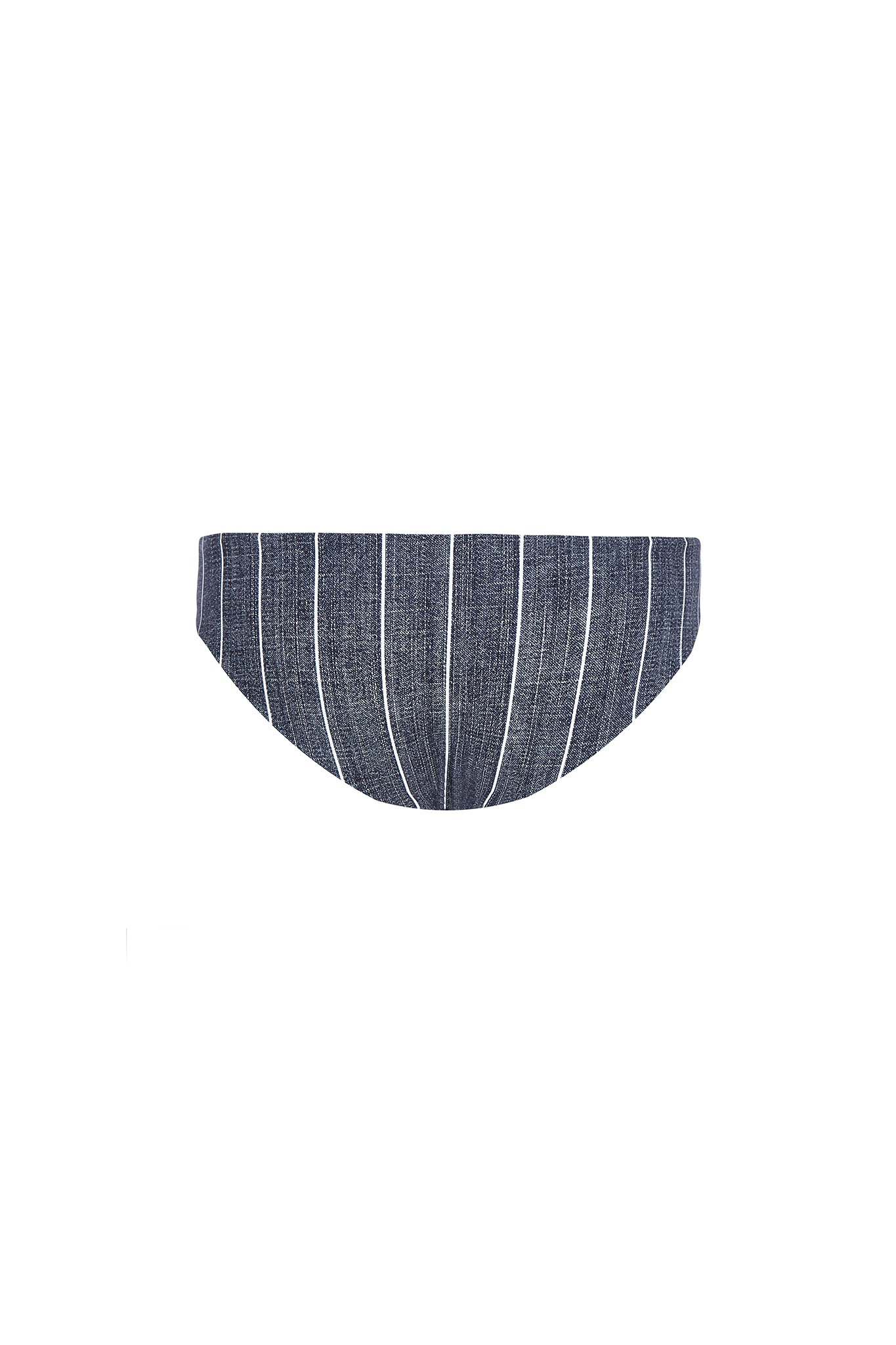 Bradley basic swim bottom in grey pin stripe product shot back
