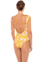 Ava Capped Sleeve One Piece in Desert Poppy Yellow