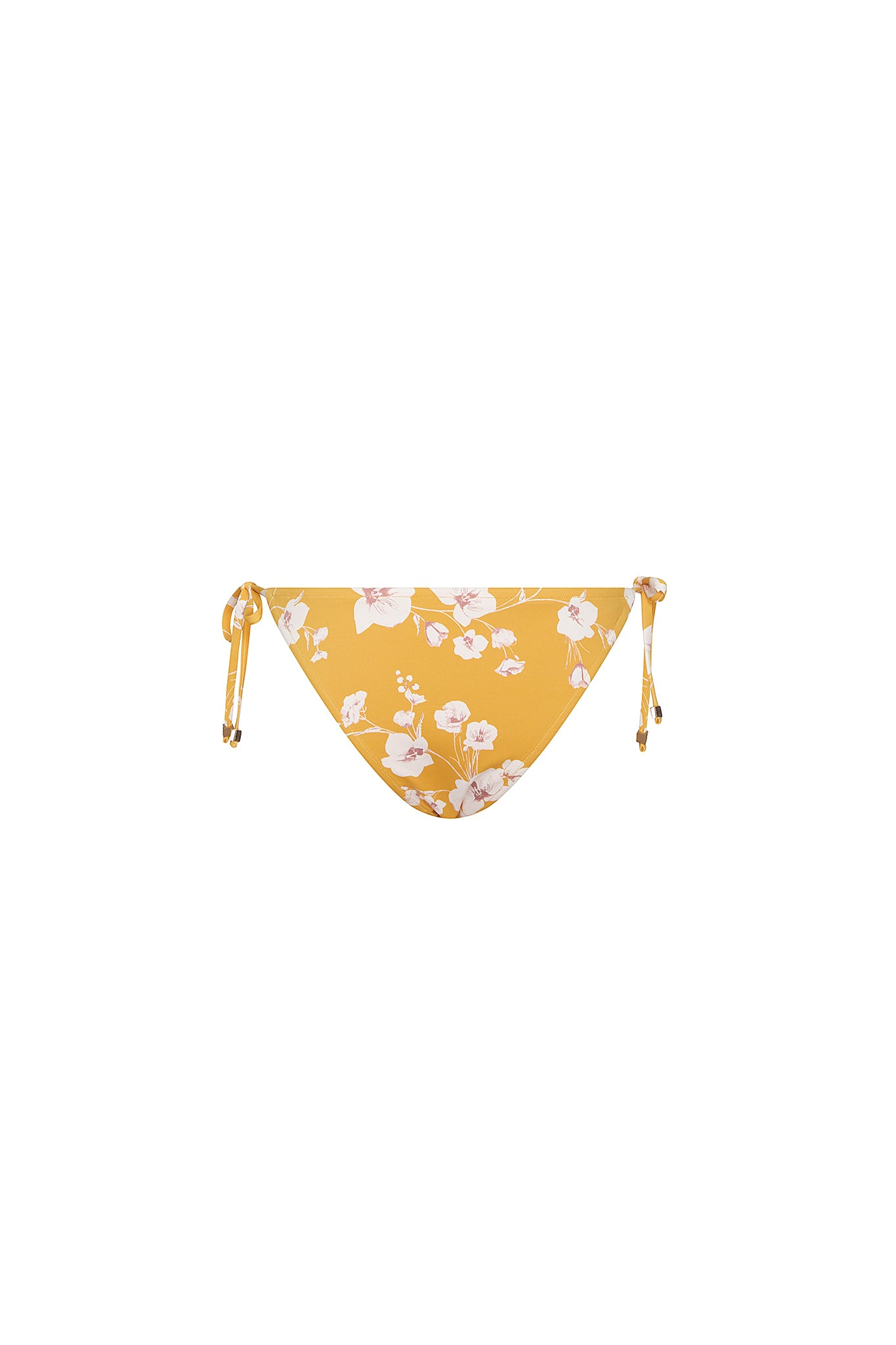Piper Spaghetti Tie Side Bottom in Desert Poppy Yellow