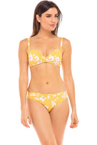 Rita Lowrise Bikini Bottom in Desert Poppy Yellow