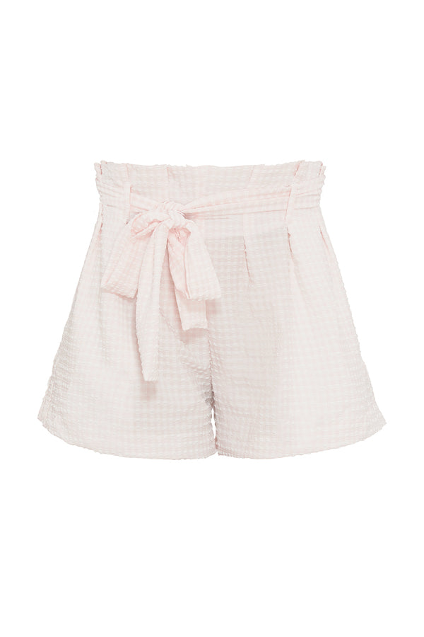 Revel Rey Etta Waffle Short in Almost Mauve