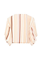 Gabrielle Top - Tan Stripe