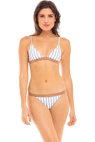 Blake Bikini Bottom in Hampton Blue and White Stripe