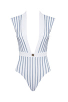 Gene One Piece Hampton Blue and White Stripe