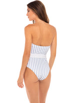 Kate Belted One Piece in Hampton Blue and White Stripe