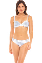 Rita Padded Bikini Top in Hampton Blue and White Stripe