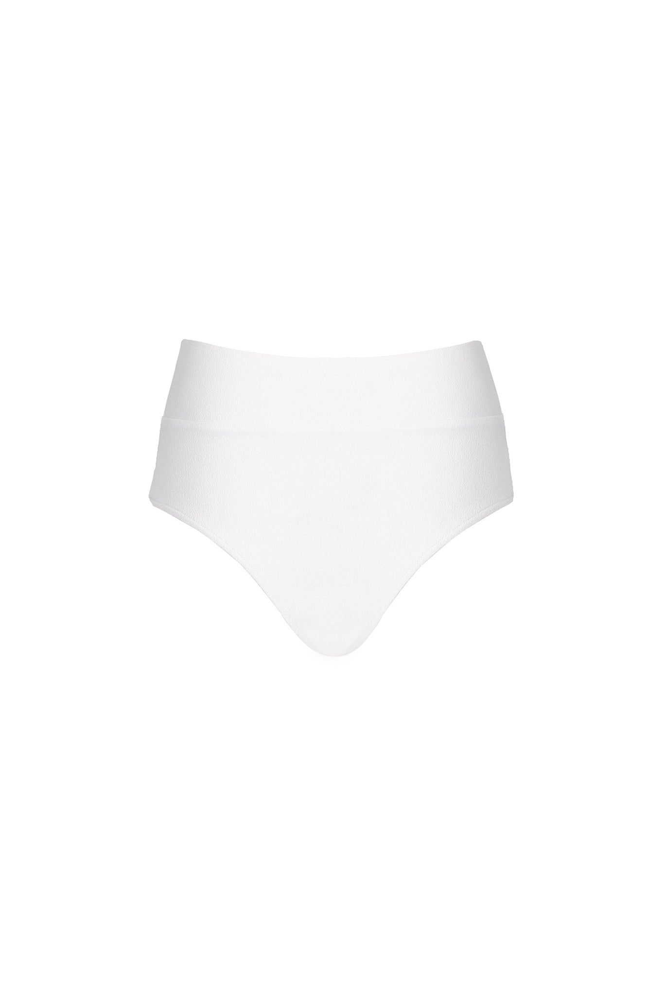 Henley Bottom - Cream Crepe