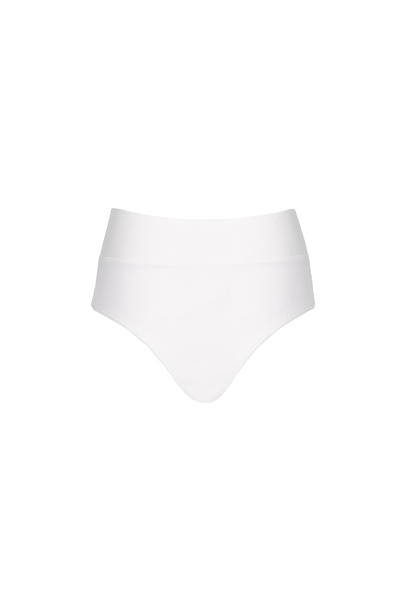 Henley high waist bottom in cream crepe, product shot front