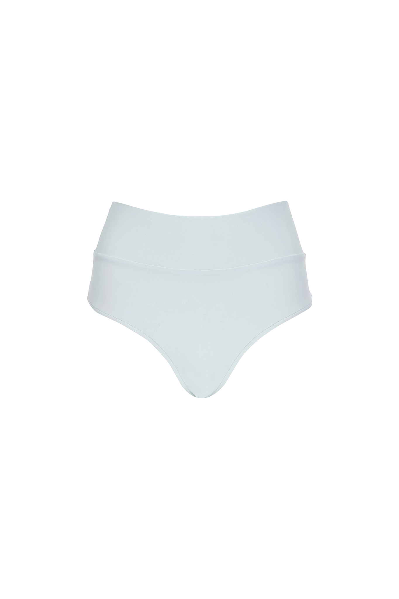 Henley high waist bottom in mint product shot front