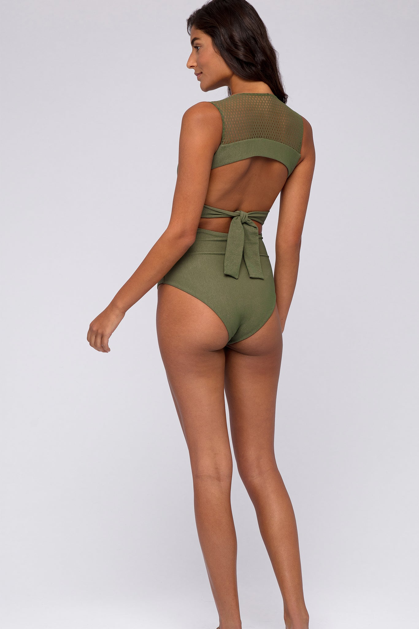 Nora One Piece - Verde Crepe