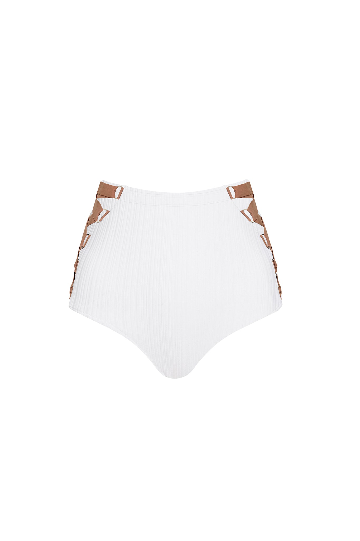 Riley Bottom - White Rib