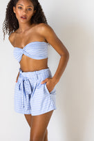 Etta Shorts - Azul Arrow