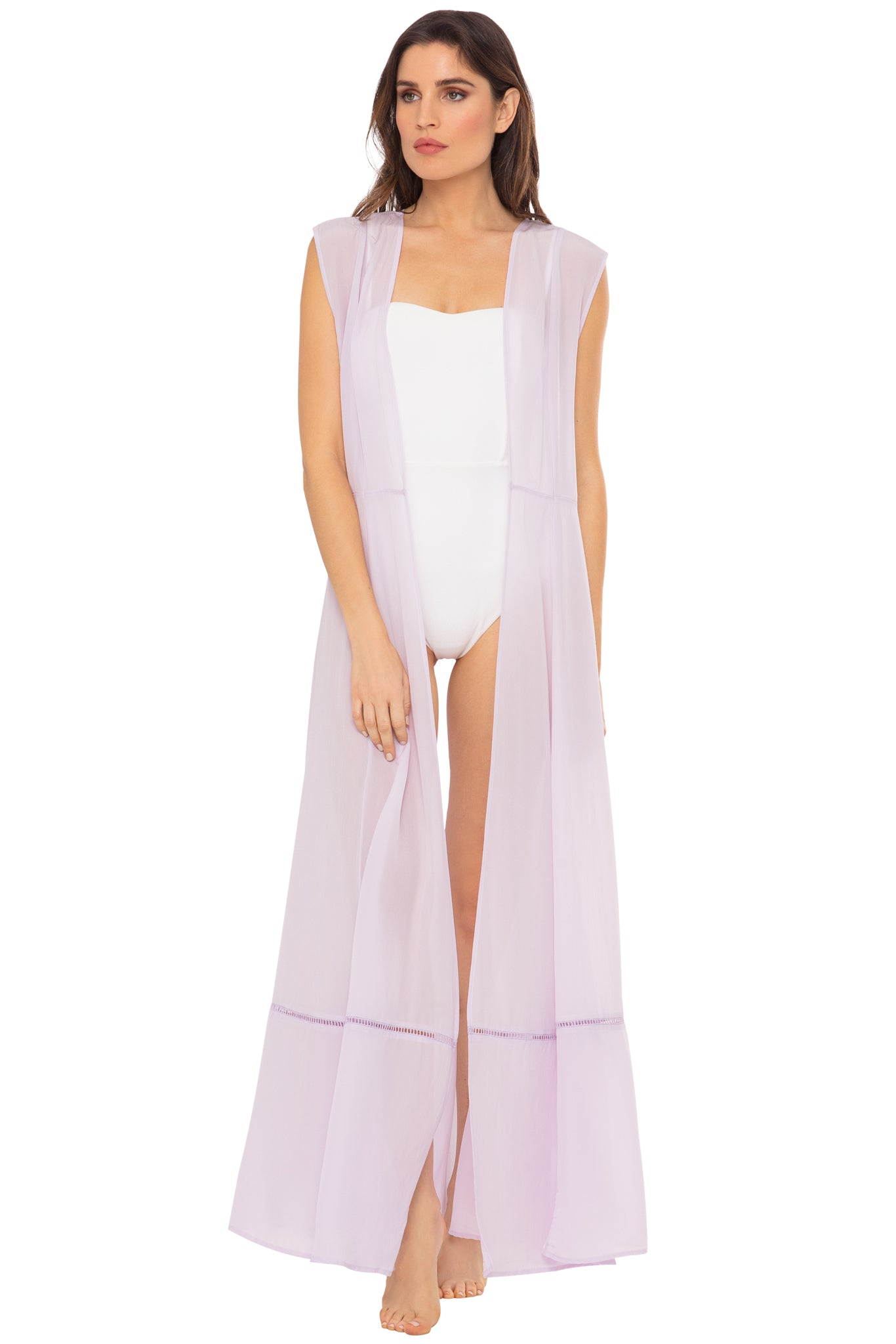 Audrey Sleeveless Maxi Duster - Orchid