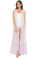 Audrey sleeveless maxi cover-up in lavender - front