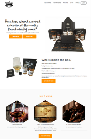 The Whisky Order site Version 1