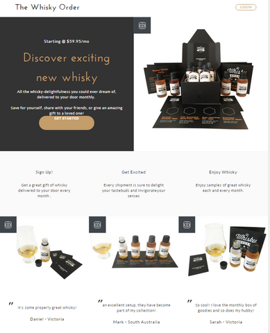 The Whisky Order Website Version 2