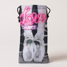 Mesh Love Dance pointe shoes bag, B&W pointe shoes