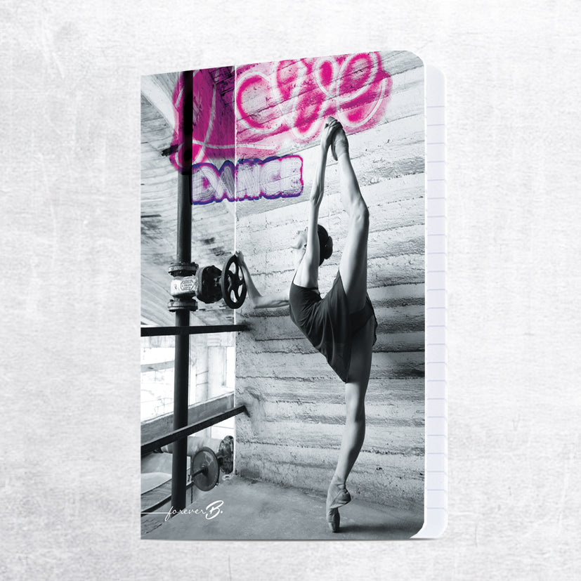 A4 grid paper notebook, love dance ballerina
