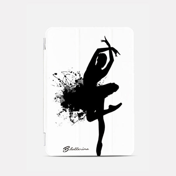 iPad Mini cover, B&W ballerina