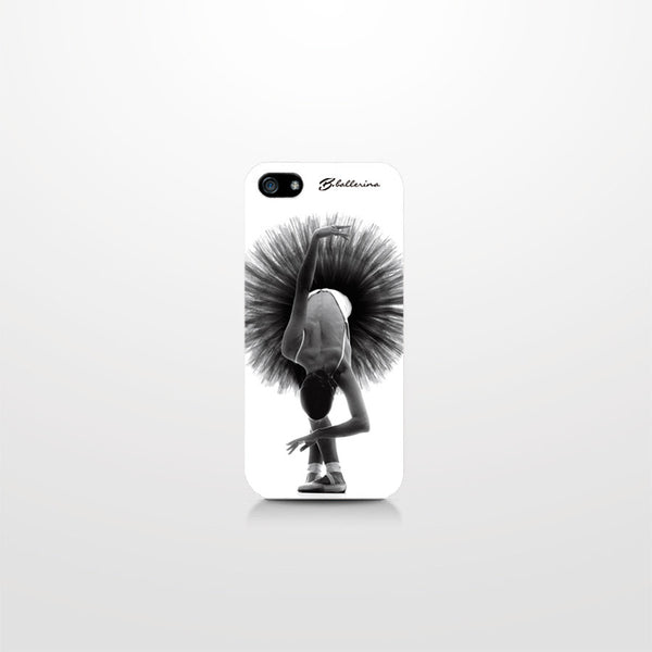iPhone 5C case, B&W ballerina in 5th position