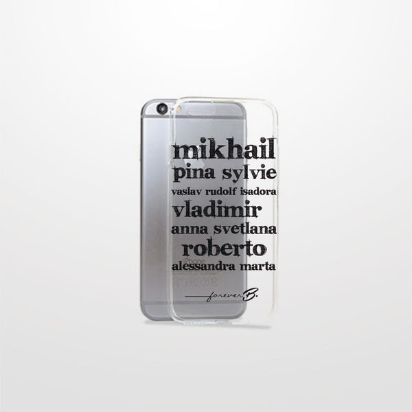 iPhone 6 case, ballet theme transparent