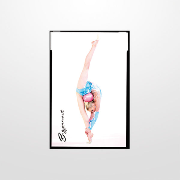 Square magnet with a gymnast picture