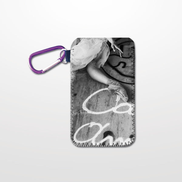 Soft cell phone case in neoprene with dance design