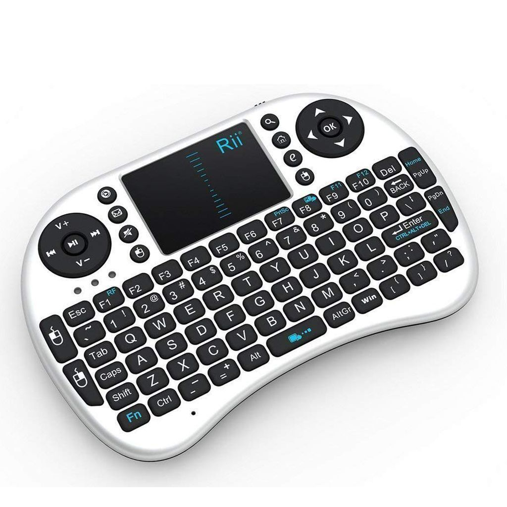 2.4GHz Wireless Mini Keyboard with Touchpad Mouse (white)