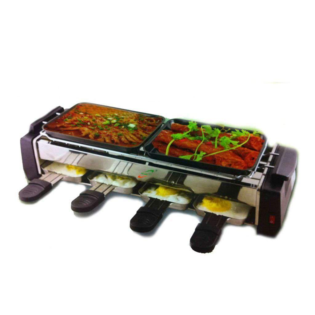 DOUBLE BARBECUE GRILL AND TANDOOR ROASTER.