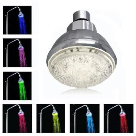 LED Temperature Sensor Head Shower