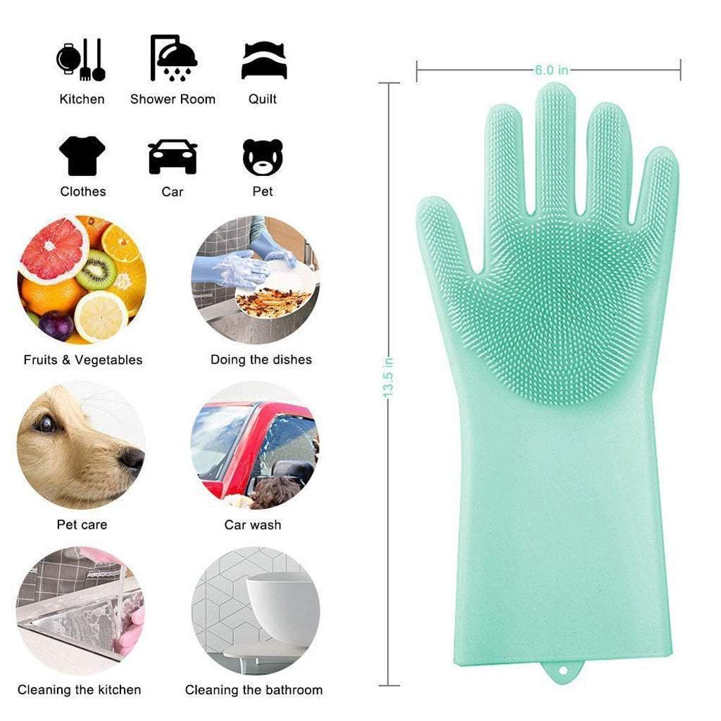 SILICONE GLOVES WITH HEAT RESISTANCE
