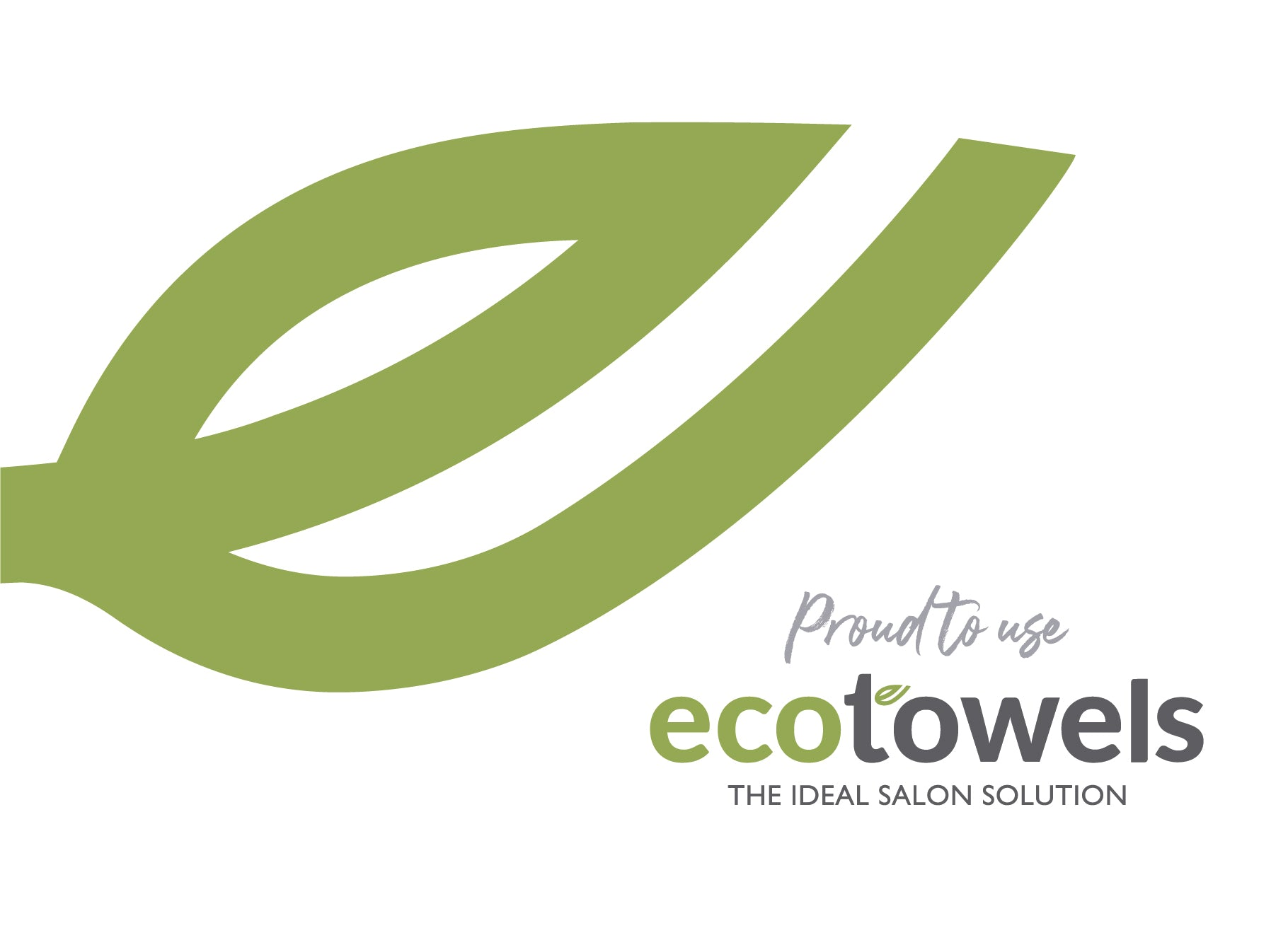 EcoTowels Proud to Use Sticker