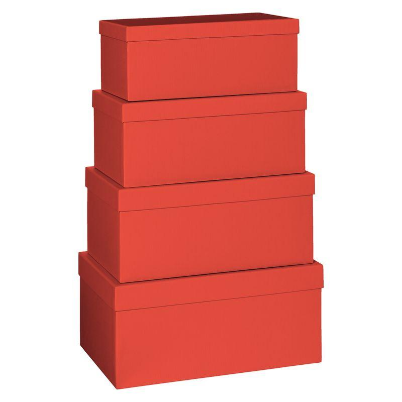 Cadeaudozen 4 delig One Colour rood