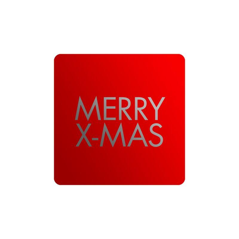 Stickers Merry X-mas Vierkant Zilver 1000st