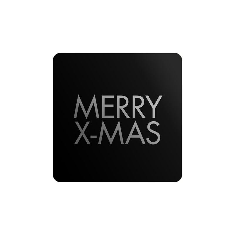 Stickers Merry X-mas Vierkant Goud 1000st