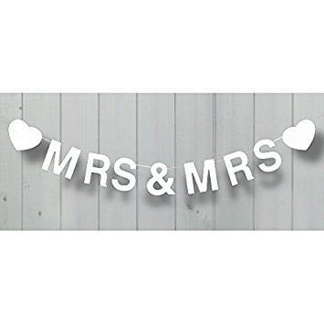 Mrs & Mrs  Wooden Bunting