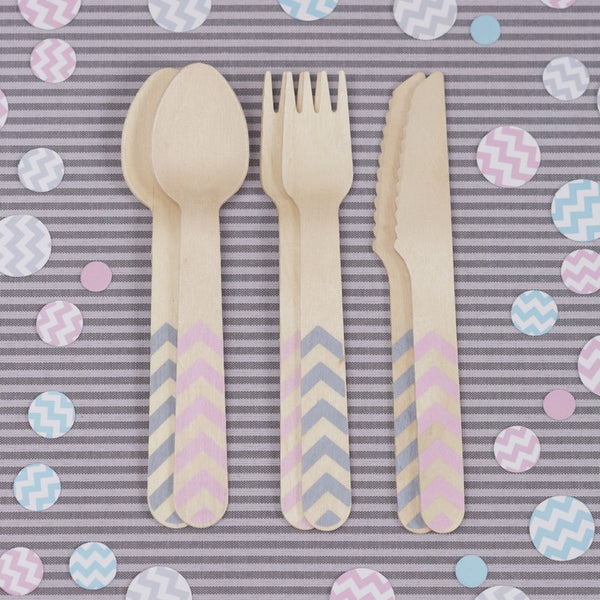 Chevron Wooden Cutlery