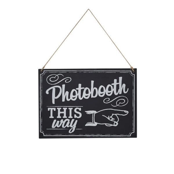 Chalkboard Wooden Photo Booth Sign