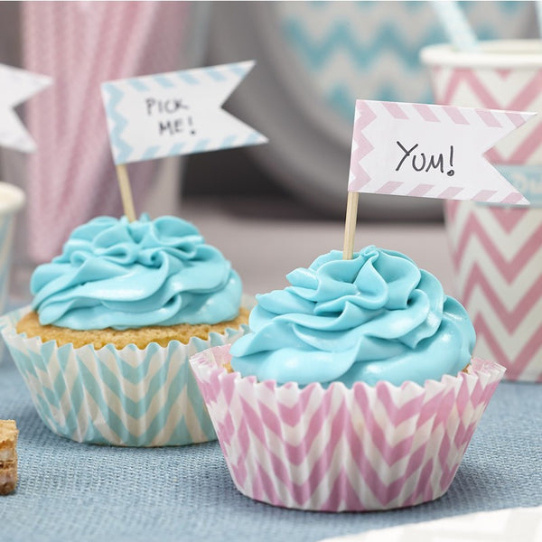 Blank Cupcake Sticks - Chevron