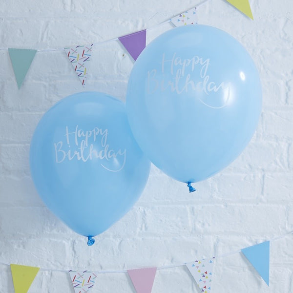 Happy Birthday Blue Balloons
