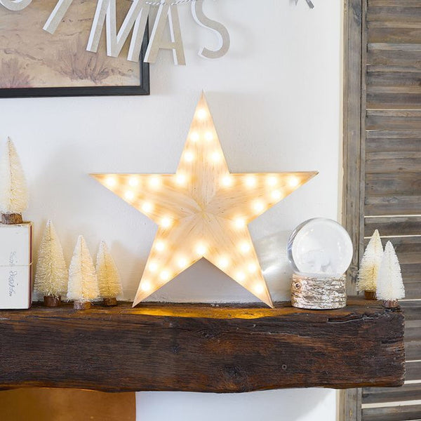 Nordic Christmas Wooden Star Light