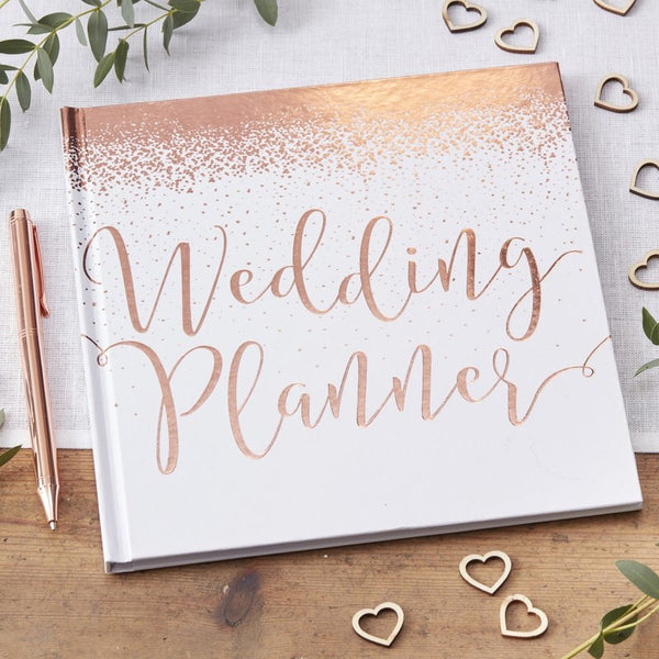 ROSE GOLD FOILED WEDDING PLANNER