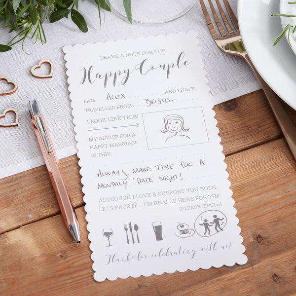 Advice For The Happy Couple Cards - Beautiful Botanics