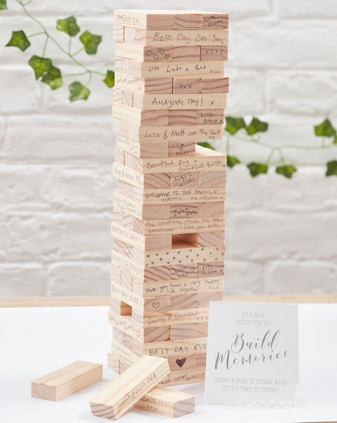 Build A Memory Building Blocks Guest Book - Beautiful Botanics