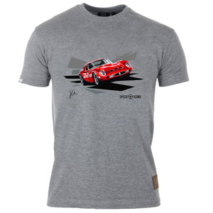 Ferrari 250 GTO Gent's T-Shirt By Joel Clark - Iconic Cloth