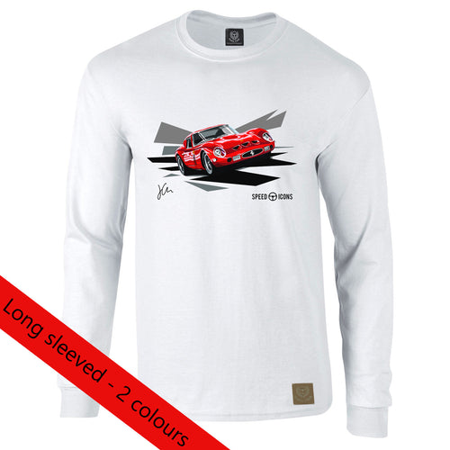Ferrari 250 GTO Gent's Long Sleeved T-Shirt By Joel Clark - Iconic Cloth
