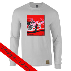 Porsche 917 Salzburg Long Sleeved T-Shirt by Joel Clark - iconic-cloth